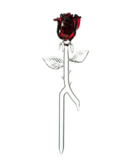 Handmade beautiful glass Sticking Rose