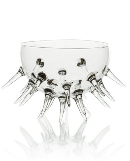 Hamdmade cocktail glass-bowl Sea urchin